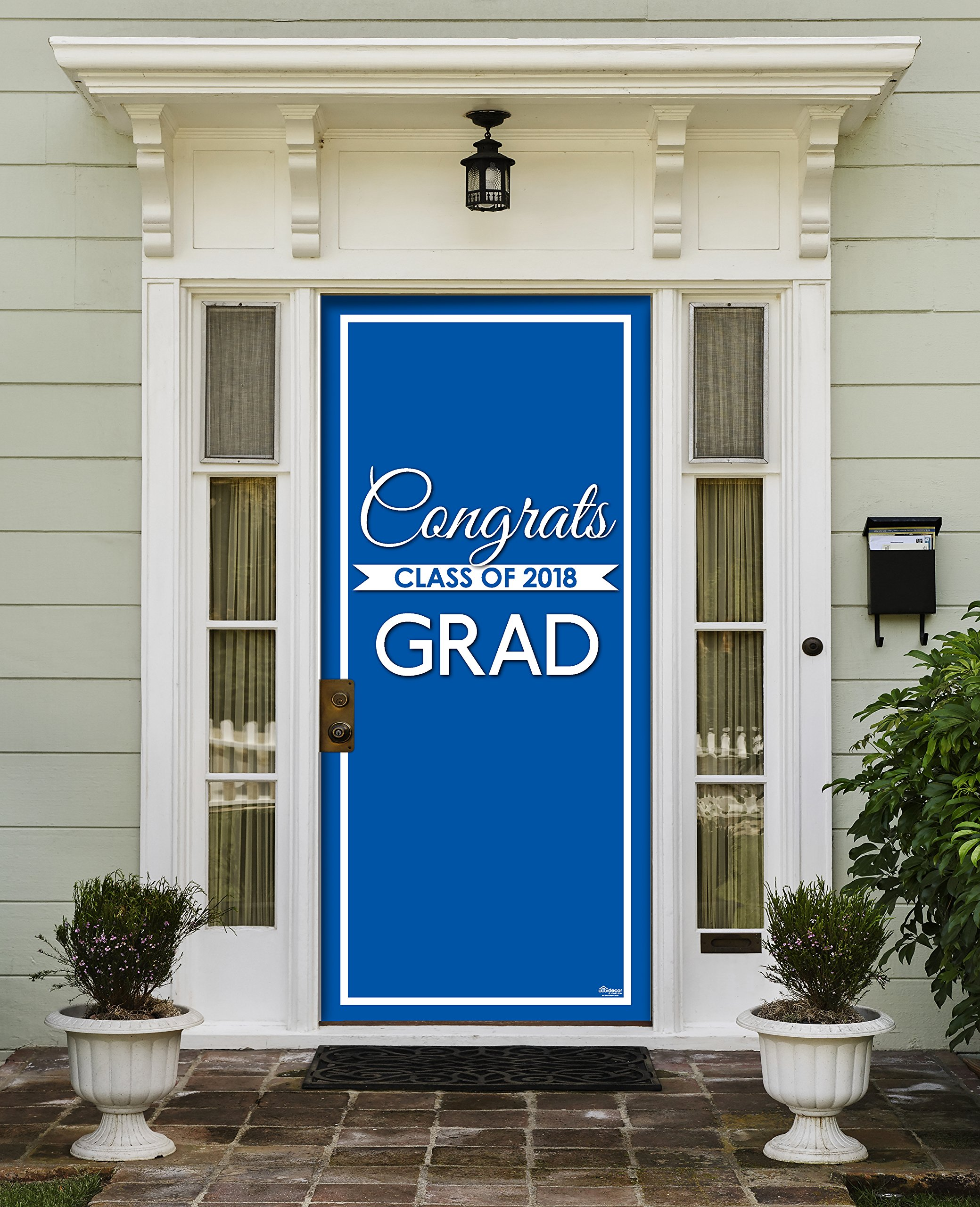 Victory Corps Class Banner Blue - Outdoor GRADUATION Garage Door Banner Mural Sign Décor 36'' x 80'' One Size Fits All Front Door Car Garage -The Original Holiday Front Door Banner Decor