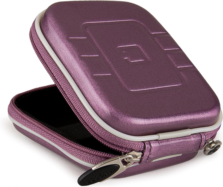 Purple VanGoddy Semi Hard EVA Carrying Case for Samsung WB250F Digital Camera and Screen Protector and Tripod Stand and Screen Protector
