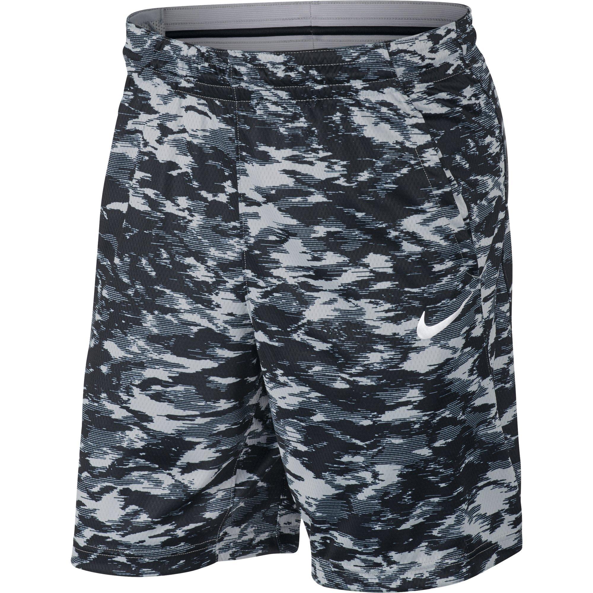 NIKE Men's Dry Print Attack Shorts, Wolf Grey/Black/White, XX-Large