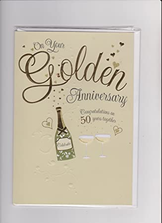 prelude on your golden wedding anniversary congratulations 50 years together card