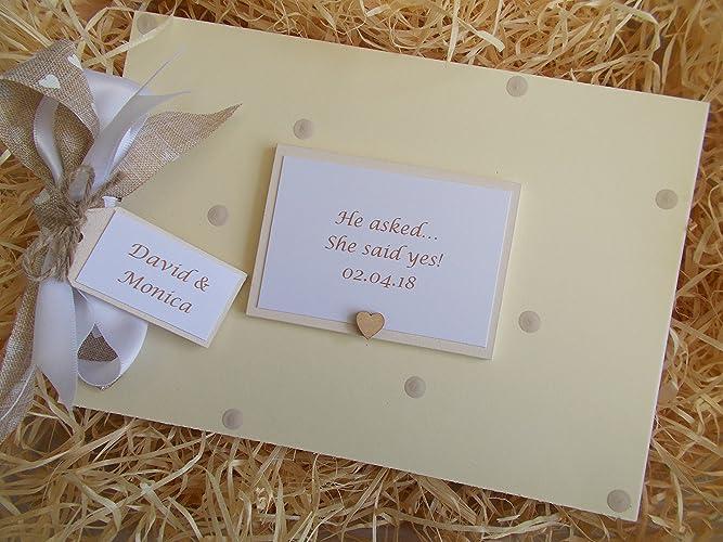 Personalised Engagement Photo Album Memory Book Scrapbook Gift