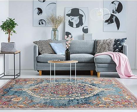 Ottomanson Rix3262 8x10 Area Rug 7 10 X 9 10 Turquoise Furniture Decor
