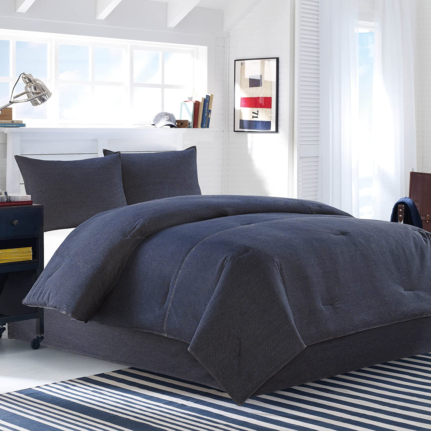 lp set parachute duvet cover chambray stripe in linen products granite