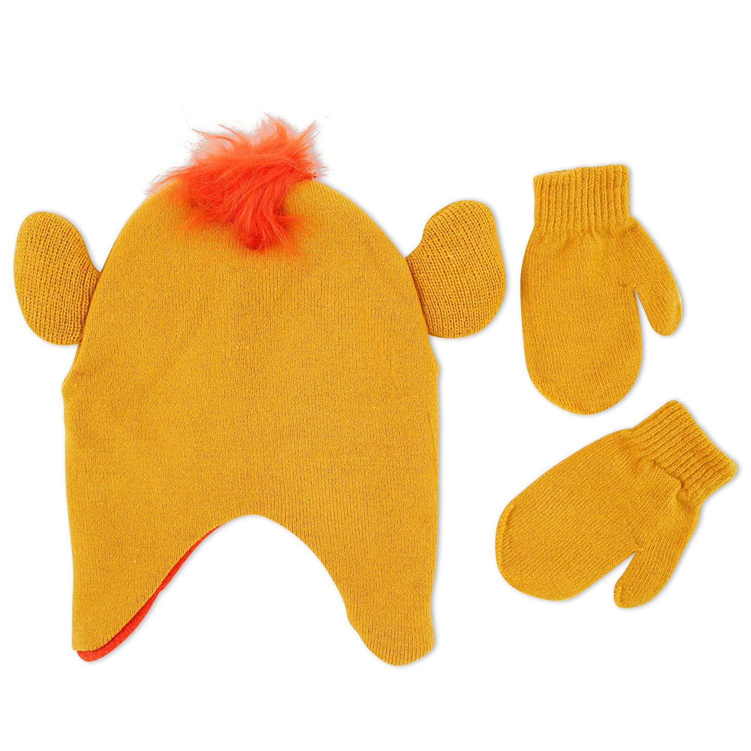 8ef08bb5ad4b00 Amazon.com: Disney Little Boys The Lion Guard Kion Acrylic Hosiery Knit  Winter Character Shaped Contoured Short Hat with Pinched Knit Ears and  Matching ...