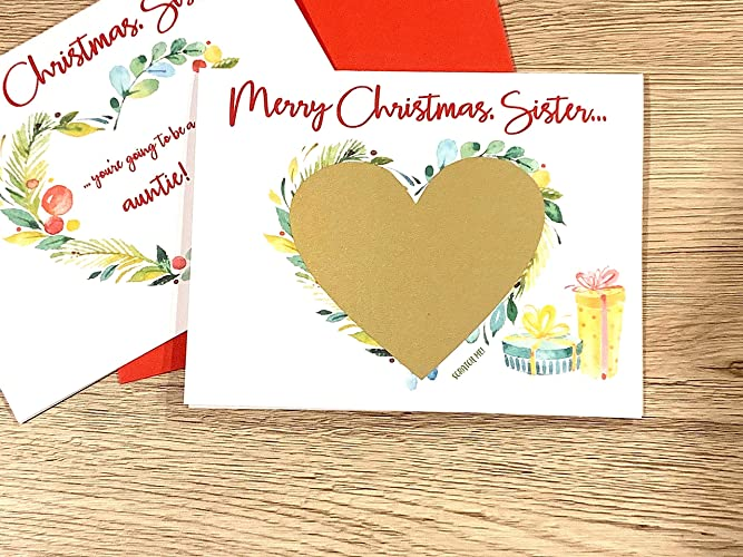 Merry Christmas Sister.Amazon Com Merry Christmas Pregnancy Scratch Off Card For