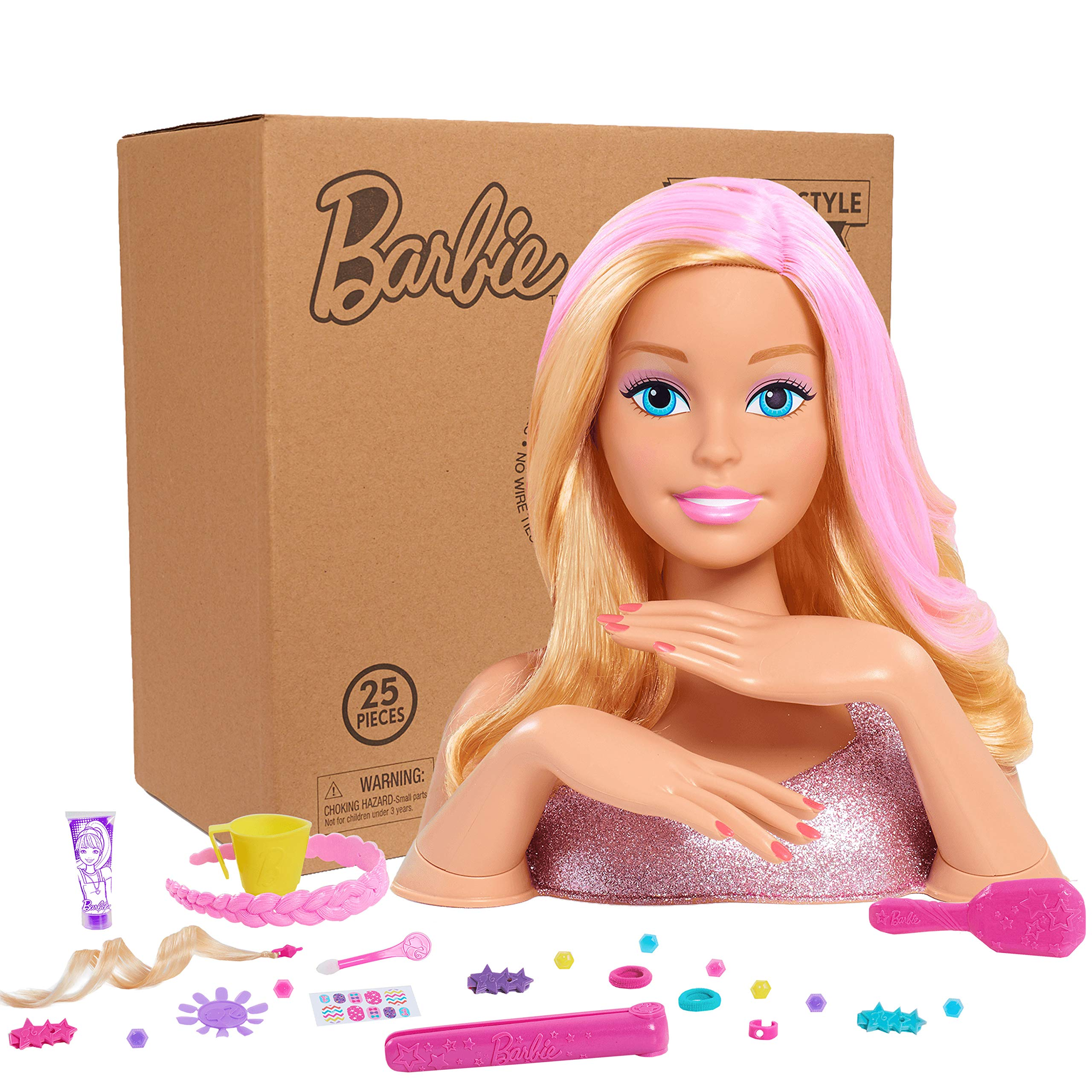 Barbie Deluxe Styling Head(Blonde)- Brown Mailer
