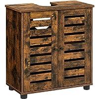 VASAGLE Mueble Lavabo, Mueble baño, Armario Lavabo, 60 x 30 x 60 cm, con 2…
