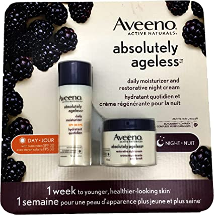 Aveeno Ageless Day & Night Cream Day-50ml; Night-48ml, 1 Count ...