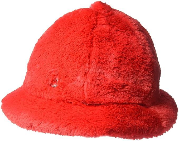 251f437f5 Kangol Mens Faux Fur Casual Cap Bucket Hat