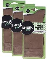 Smell Free Organic Bamboo Men's Formal Socks (Brown) - Pack of 3