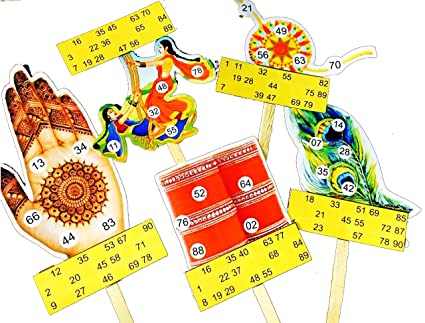 Saavan Themed Tambola Tickets Made by Smriti Singhania (15pc Set) Ideal for Parties