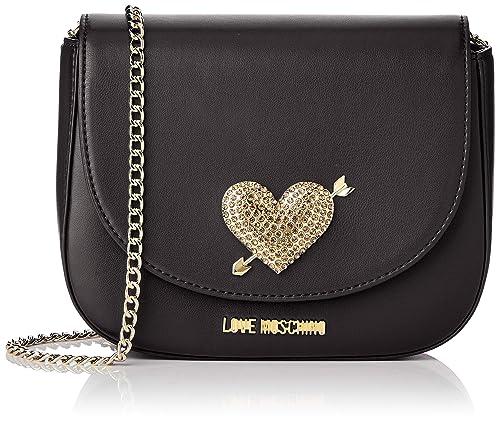 1a1b36a95dc Love Moschino Pu, Women's Clutch, Black (Nero), 15x10x15 cm (W x H L ...
