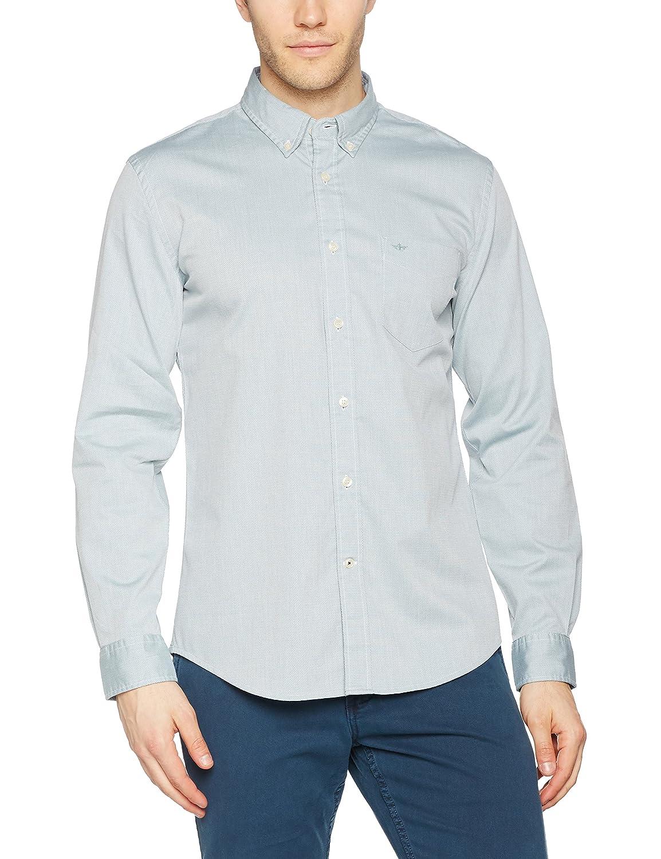 TALLA M. Dockers Textured Dobby Shirt Camisa para Hombre