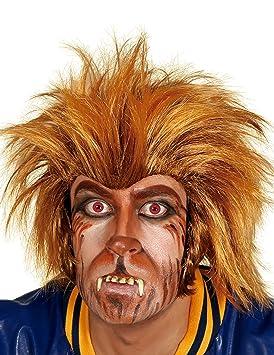 Guirca 4014 - Peluca Hombre Lobo Castaña (Envase Caja)