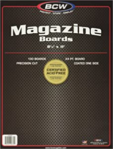 BCW-BBMAG - Magazine Size Backing Boards - White - (100 Boards)