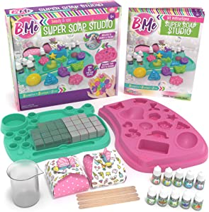 DIY Soap Making Craft Kit for Girls & Boys - Make Your Own Soap Lab Kit - Custom Reusable Mold, Multi-Color &  Scents - Gift Tween & Kids Science Make Kits - Fun Educational Activity & Science Ages 6+