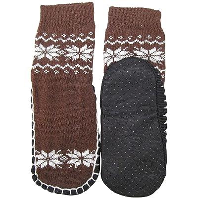 """""""Bearfoot"""" Little Boys (2-6 yrs old) Home Slipper Socks, Non-Slip Bottom"""