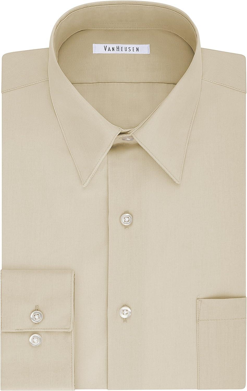 Van Heusen Mens Tall Fit Dress Shirts Poplin Big and Tall Dress Shirt