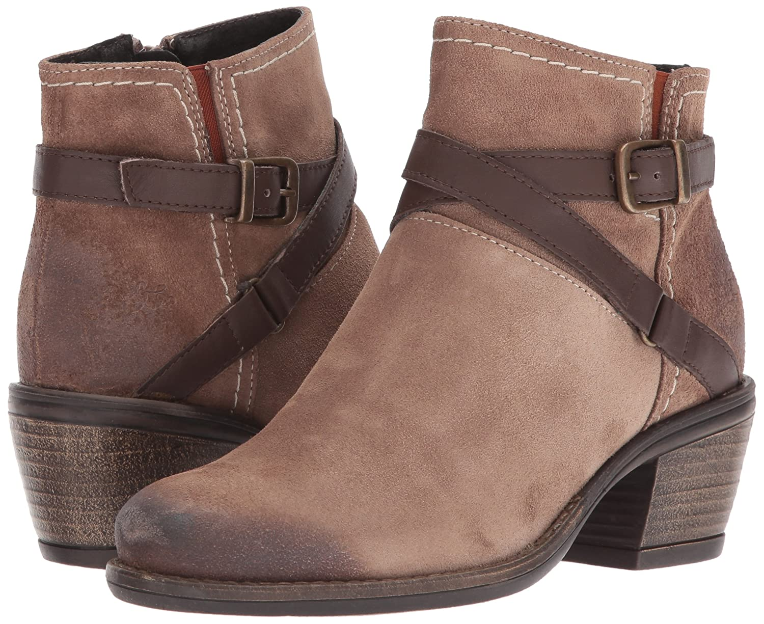 Bos. & Co.. Women's Greenville M Western Boot B06WWL8JKD 40 M Greenville EU (9-9.5 US)|Taupe/Nougat Suede/Miami 72f2c2