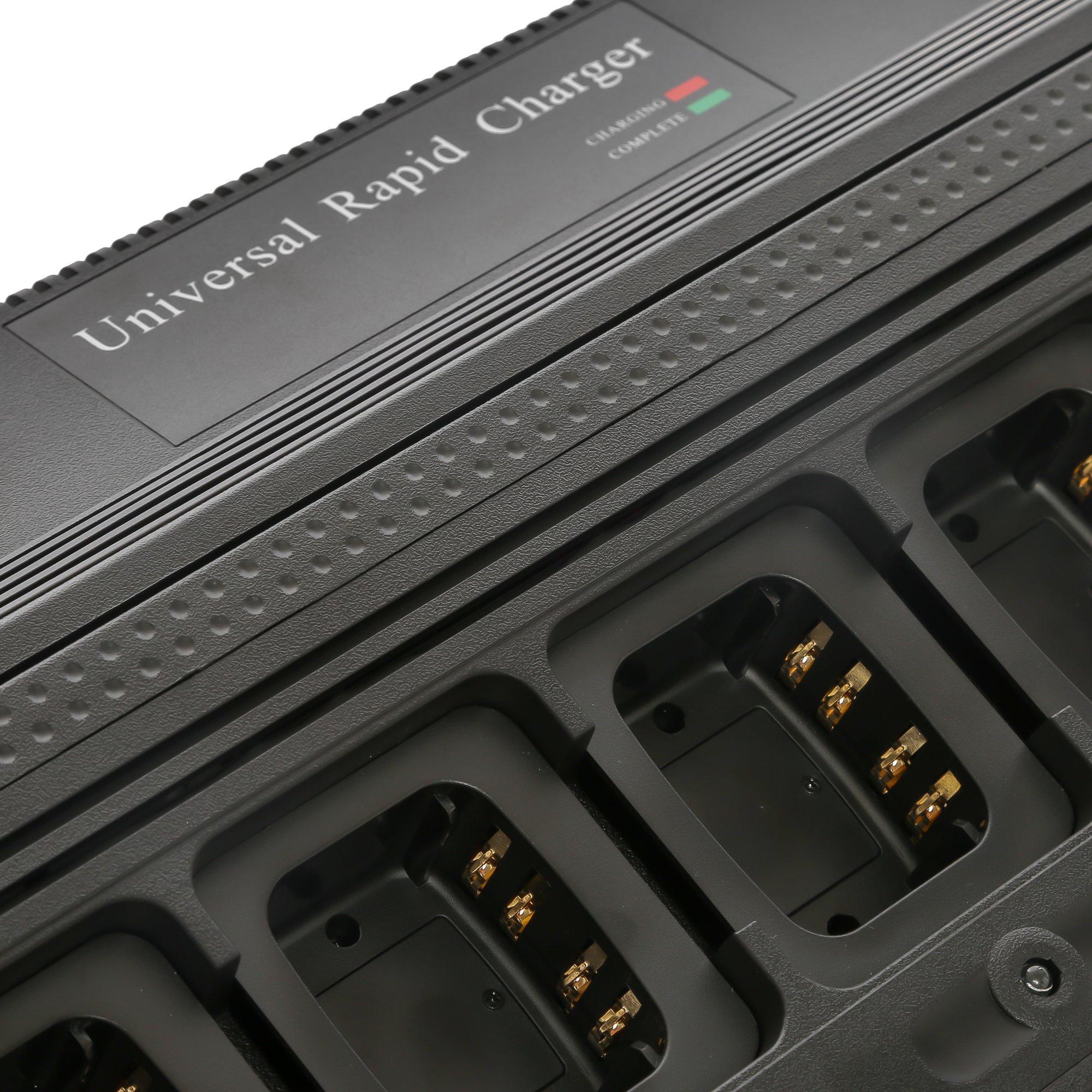 Maxtop AM6R4232-120-V3 Six Unit Bank Rapid Charger for Motorola DR3000 DP3400 DP3401 DP3600 DP3601 DGP4150 DGP4150+ by MAXTOP (Image #4)