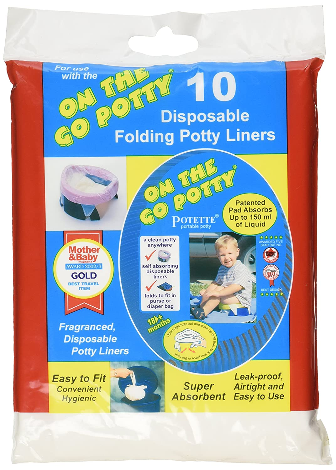 Kalencom Potette on the Go Potty Liner Re-fills 10-pack Pack 2