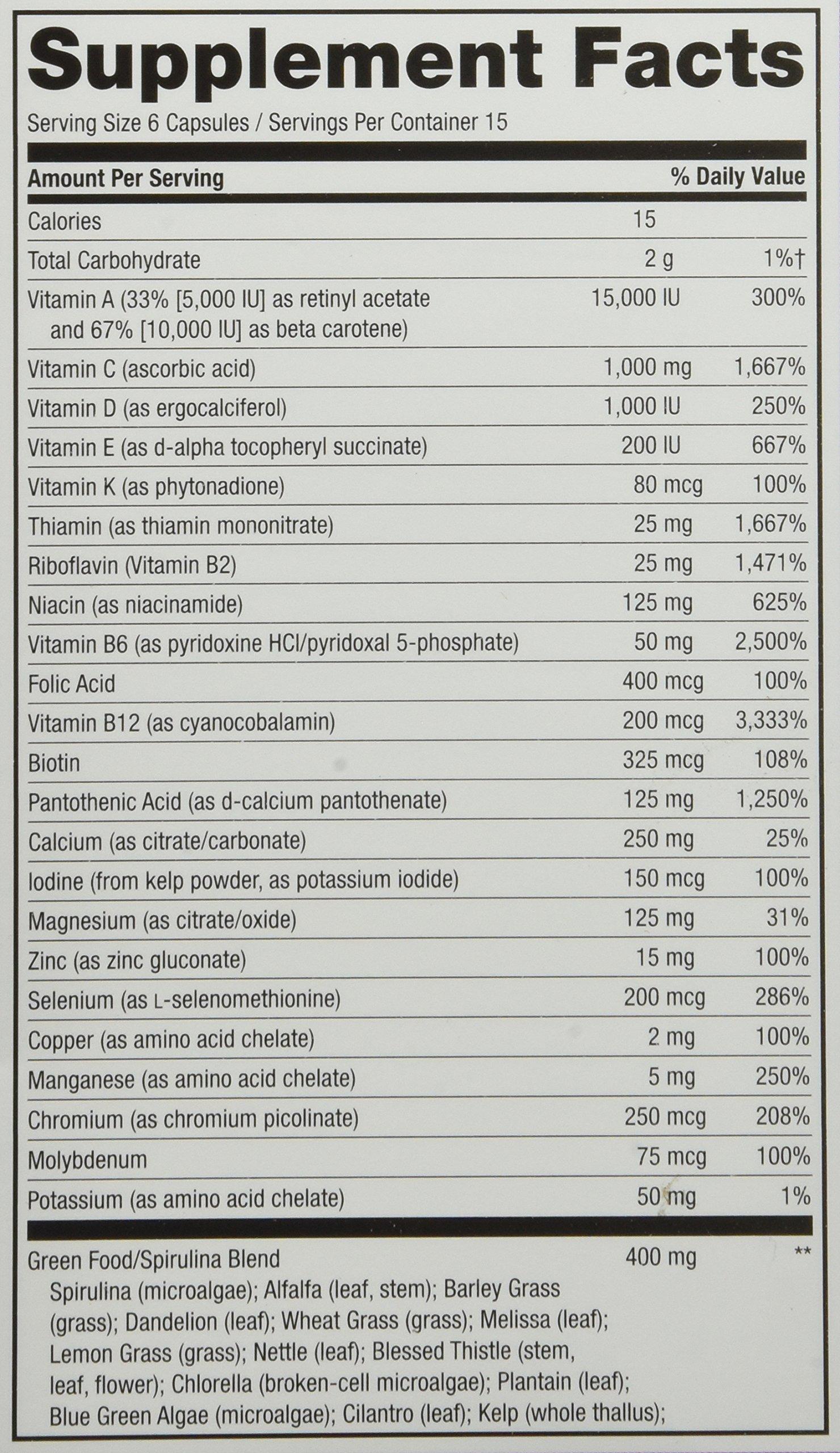 Galleon Natures Way Alive Max6 Dailiy Multi Vitamin Max Multivitamin With Spirulina 200 Tablets Potency 90 Veg Caps