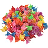 100 Pack of 90's Butterfly Hair Clips, 90's Accessories Hair Clips, Bulk Small Butterfly Hair Clips