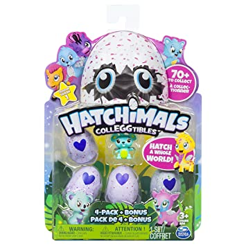 5 figurines hatchimals