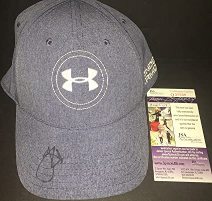 8b61ea23 Image Unavailable. Image not available for. Color: Jordan Spieth  Autographed Signed Under Armour Hat ...