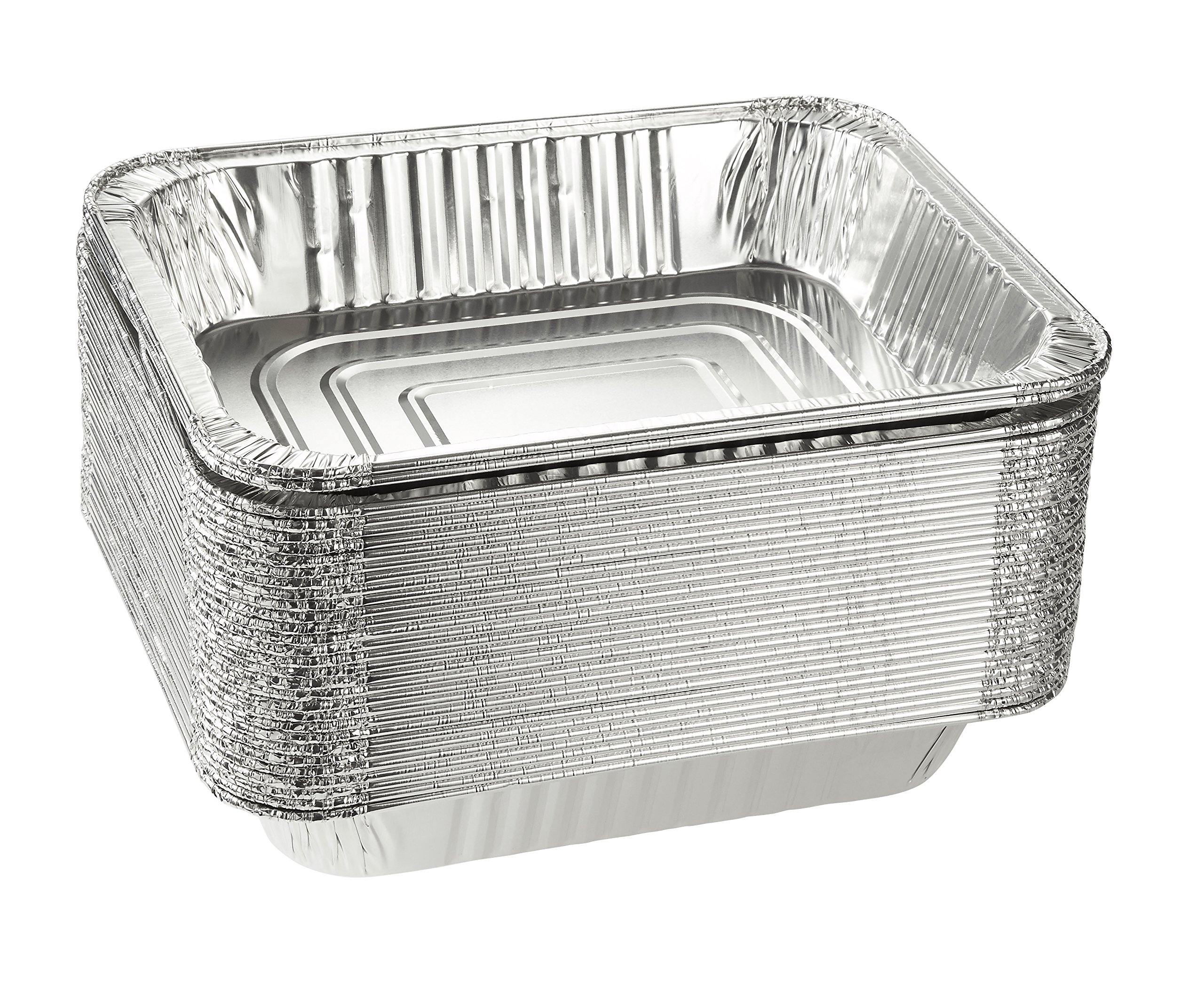 Aluminum Foil Pans - 30-Piece Half-Size Deep Disposable Steam Table Pans for Baking, Roasting, Broiling, Cooking, 12.75 x 2.25 x 10.25 Inches