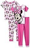 Disney Girls' Big Minnie Mouse 4-Piece Cotton
