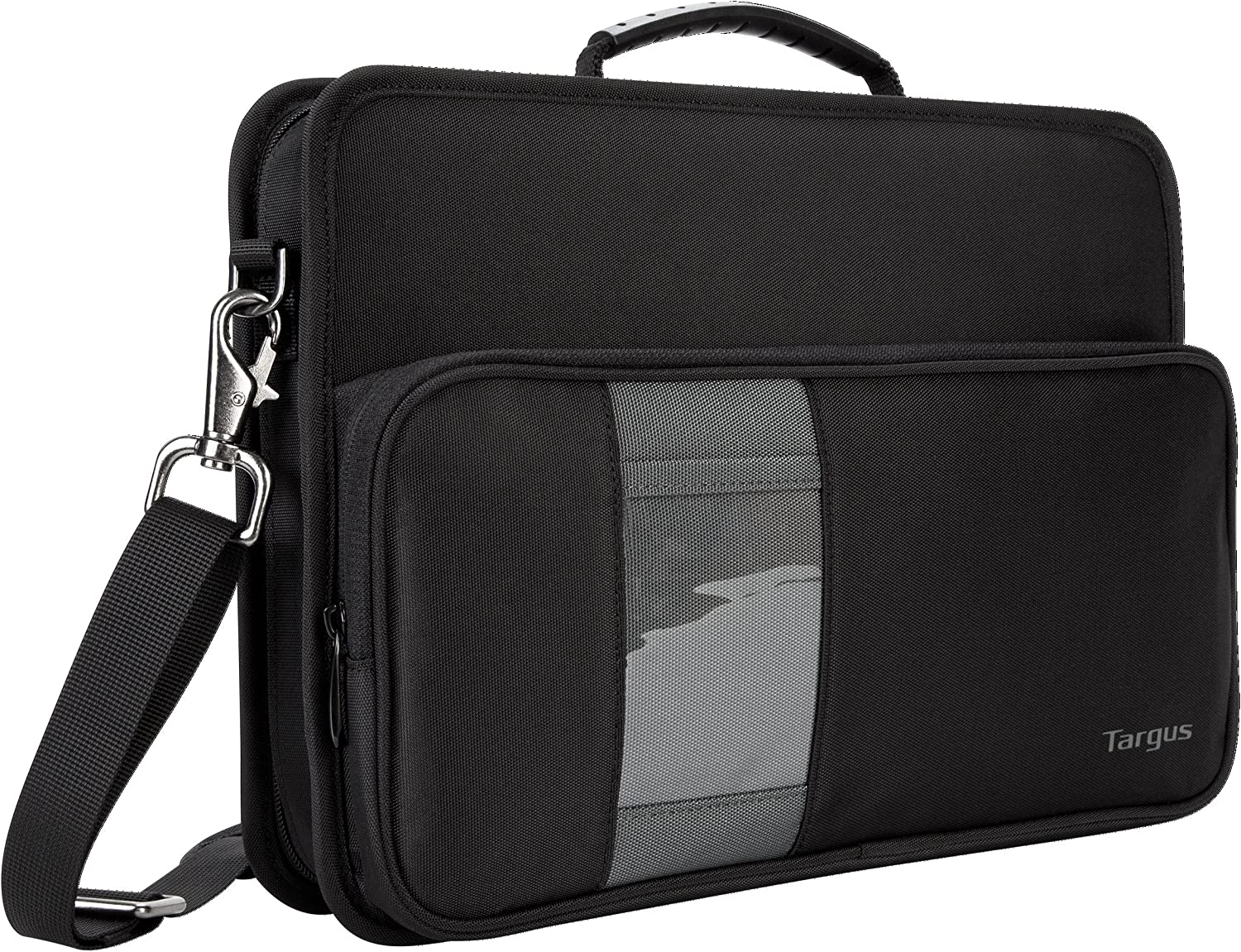 Targus Work-In Case Business Laptop Shoulder Bag for Macbook/Notebook with Protective Sleeve with Strap for 11.6-Inch Laptop, Black (TKC001)