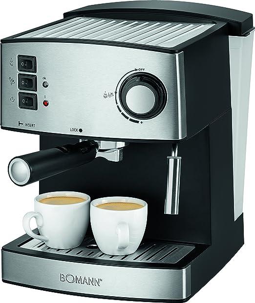 Bomann es 1185 CB - Cafetera espresso, acero inoxidable ...