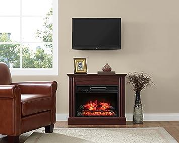 Amazoncom Whalen Furniture Fully Assembled Chesapeake  Mantel - Mantel electric fireplace