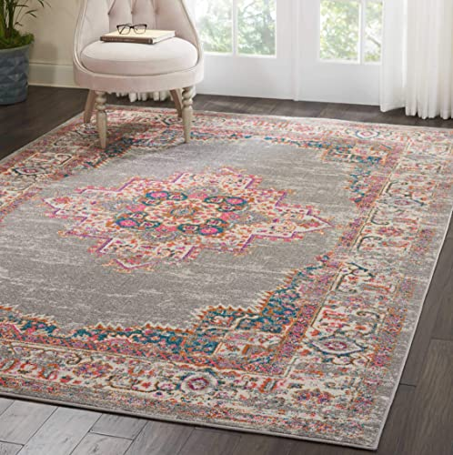 Nourison PSN03 Passion Bohemian Grey Area Rug 9' x 12'