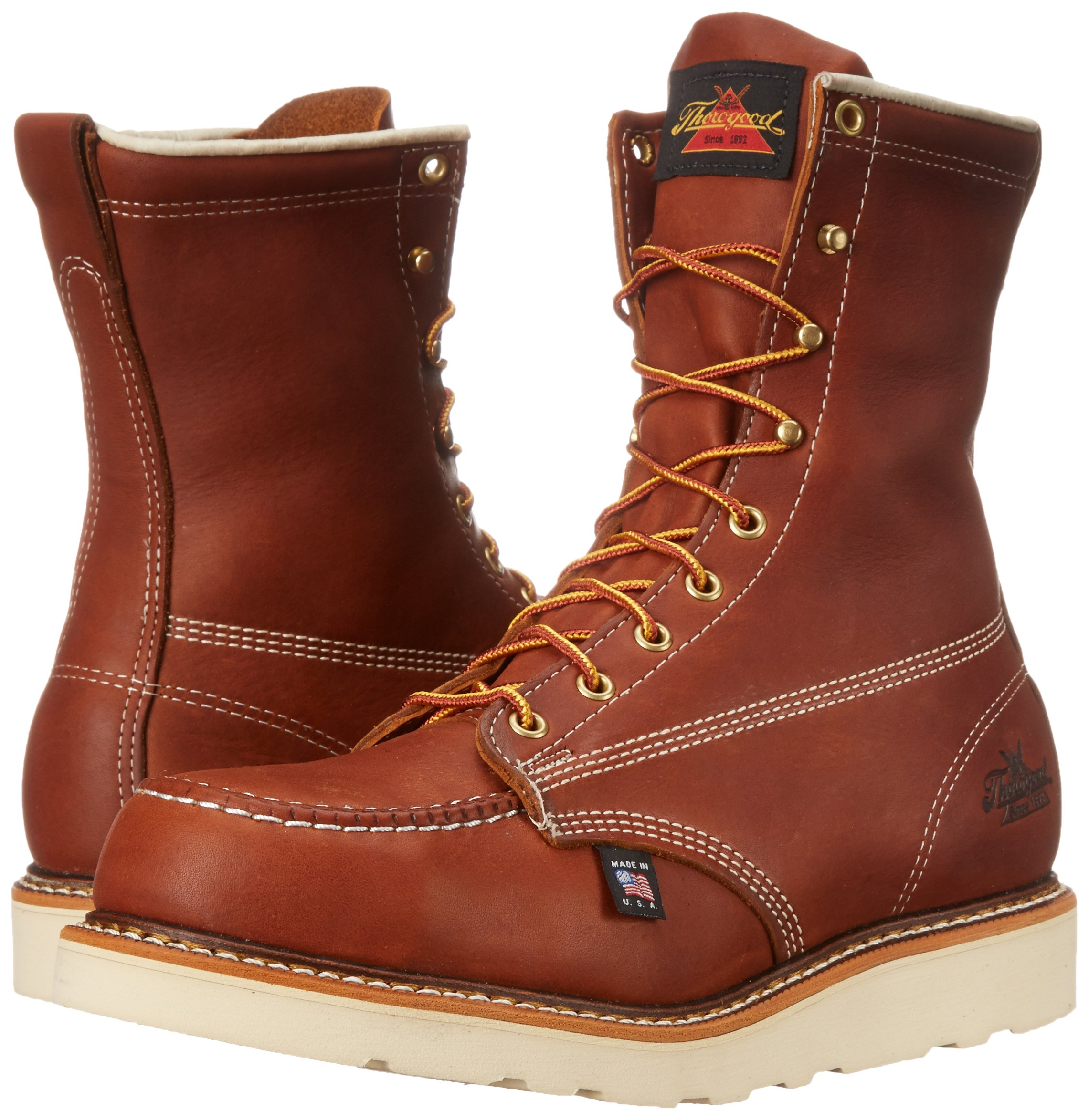Thorogood Heritage 8'' Safety Toe Work Boot, Tobacco Oil Tanned, 10 EE US by Thorogood (Image #6)