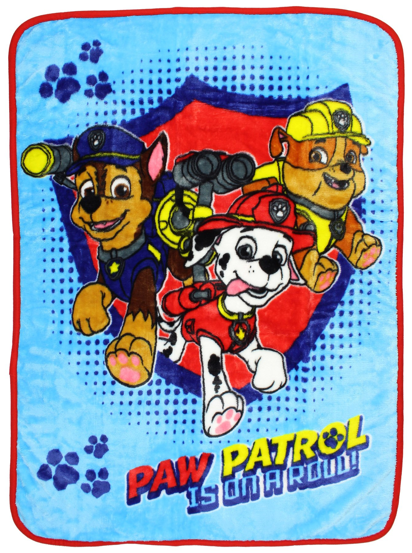 Paw Patrol Chase/Marshall/Rubble Toddler Blanket, Blue by Nickelodeon