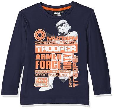 Rebel Rule The Galaxy, T-Shirt Garçon, Gris (Grey), 3-4 Ans (Taille Fabricant: 4 Years)Star Wars