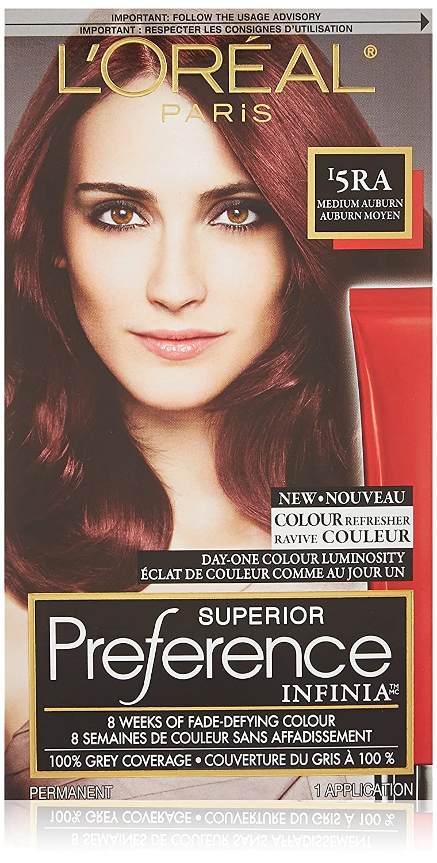 L'Oreal Paris Infinia Hair Color Medium Auburn, 1 Count L' Oreal Paris