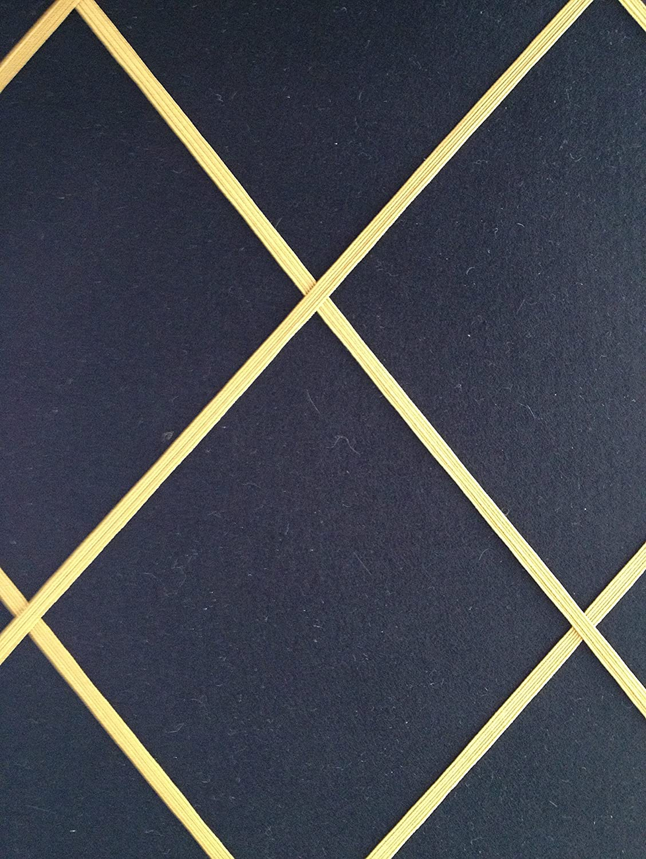 Notice Boards//Memo Boards//Large 40x48cm Black Felt Fabric Bulletin Boards Gold Elasticated Trim Message Boards