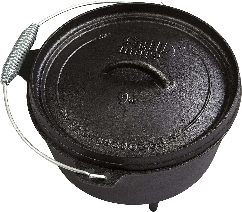 GRILL & MORE Essentials - Dutch Oven - Cacerola Horno holandés de Hierro Fundido 8 litros