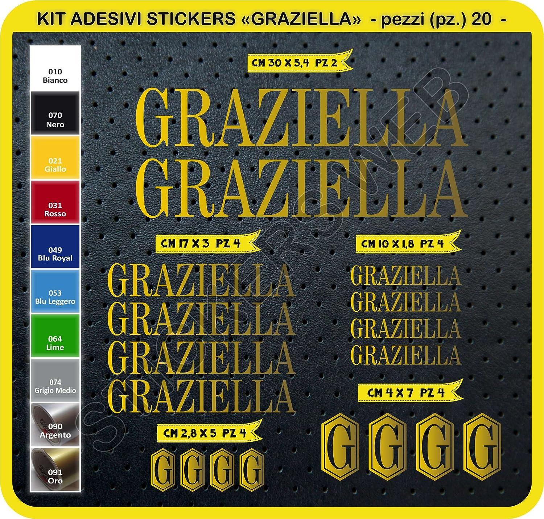 Scegli SUBITO Colore Pimastickerslab Adesivi Bici GRAZIELLA Kit Adesivi Stickers 20 Pezzi Bike Cycle pegatina cod.0098