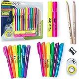 Mr. Pen- 18 Pc Highlighter Set, 6 Gel Bible Highlighter Non Bleed, 8 Highlighter Pen, Journaling Highlighters, Bible Safe, Bible Study Highlighters