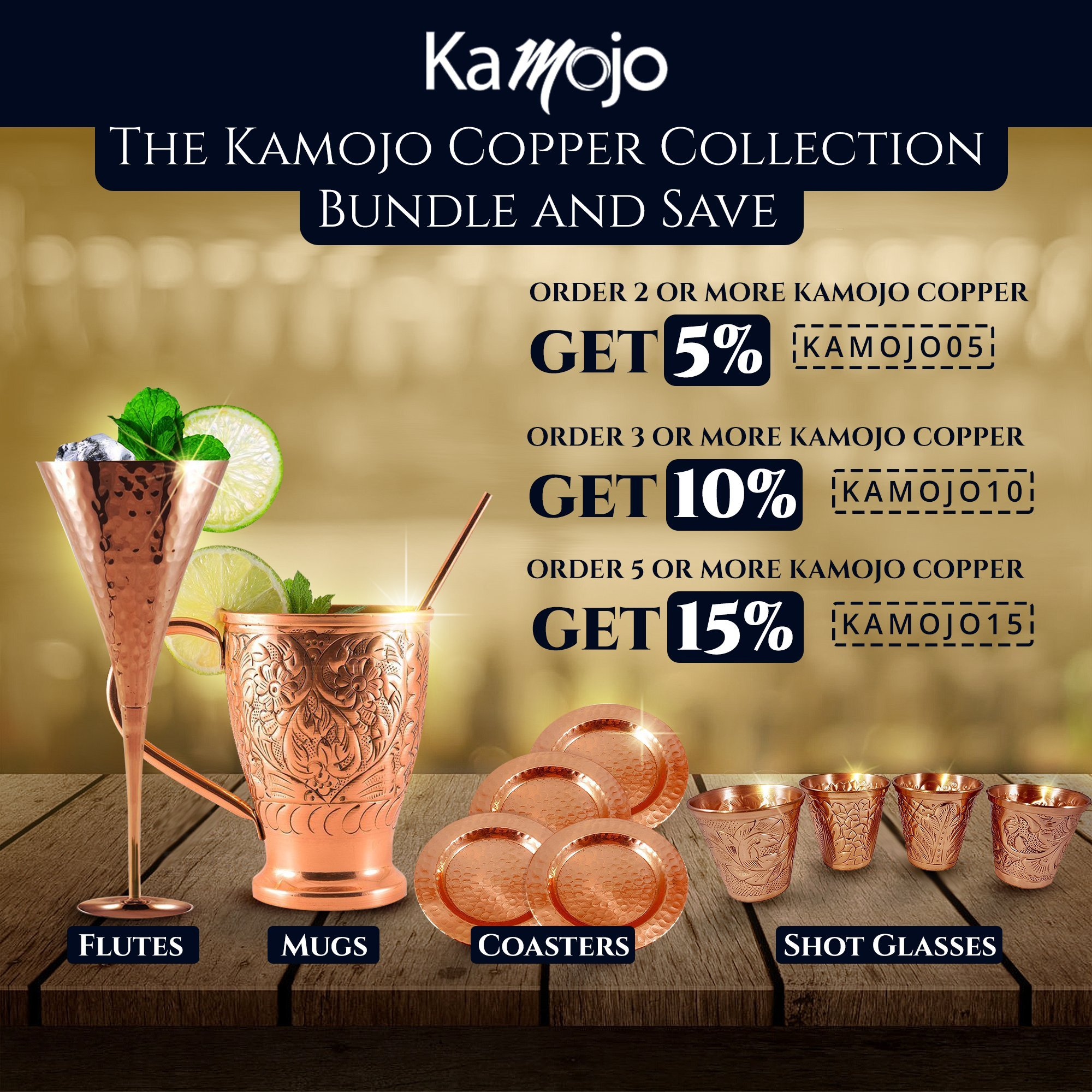 Moscow Mule Copper Mugs Party Pack. 8 Embossed Copper Mugs, Matching Shot Glasses (8) & Straws (8) Gift Set by Kamojo