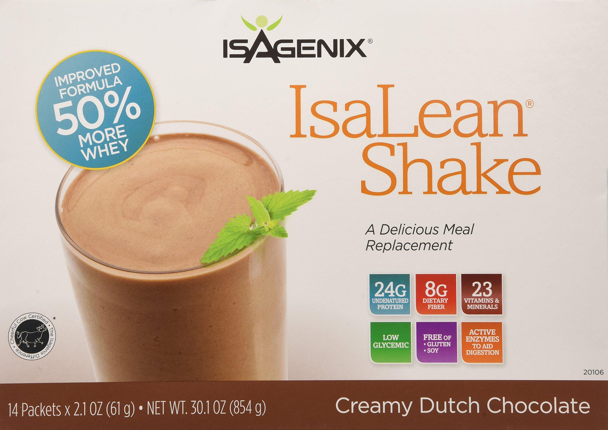 Isagenix Isalean Shake Natural Creamy Dutch Chocolate - 14 X 1 Meal Packets X 2.2 oz, 30.1 oz total