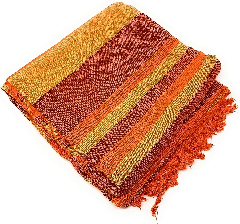 Agas Own Couvre-lit XXL indien en coton 220 x 250 cm housse de canap/é couverture en coton NOMBREUSES variantes disponibles beige//marron