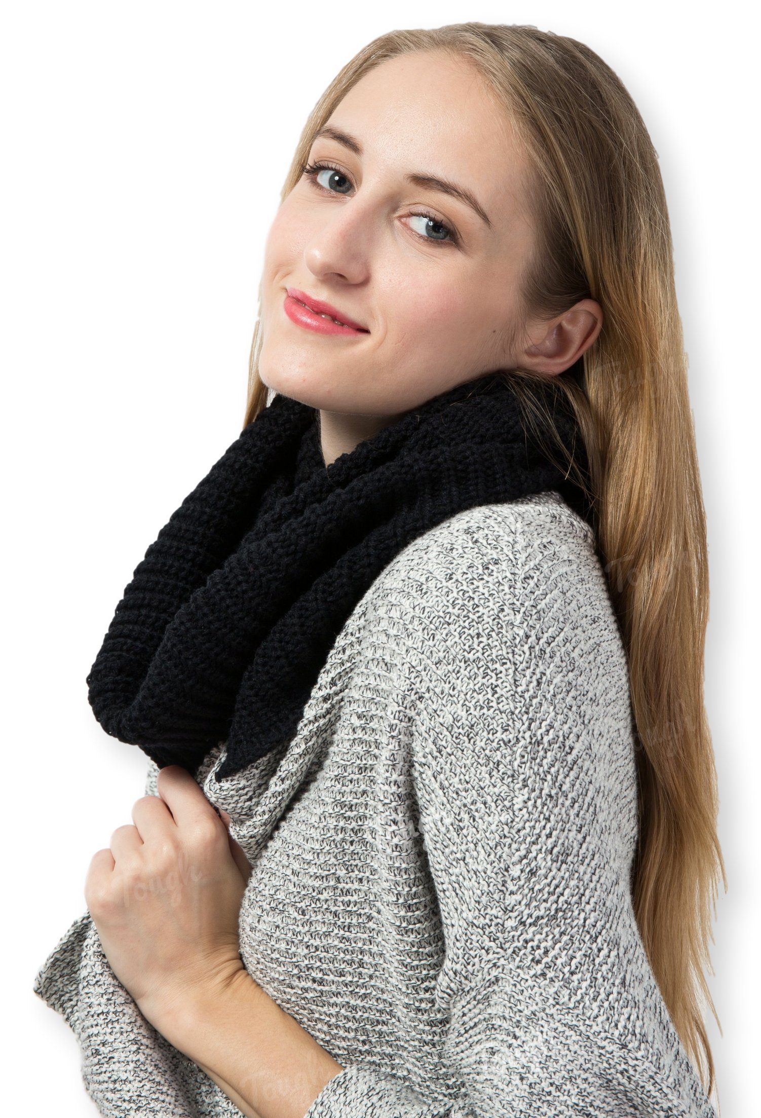 Thick Knit Winter Infinity Scarf by Tough Headwear - Stay Warm & Stylish Year Round - Circle Loop Scarves for Women & Men