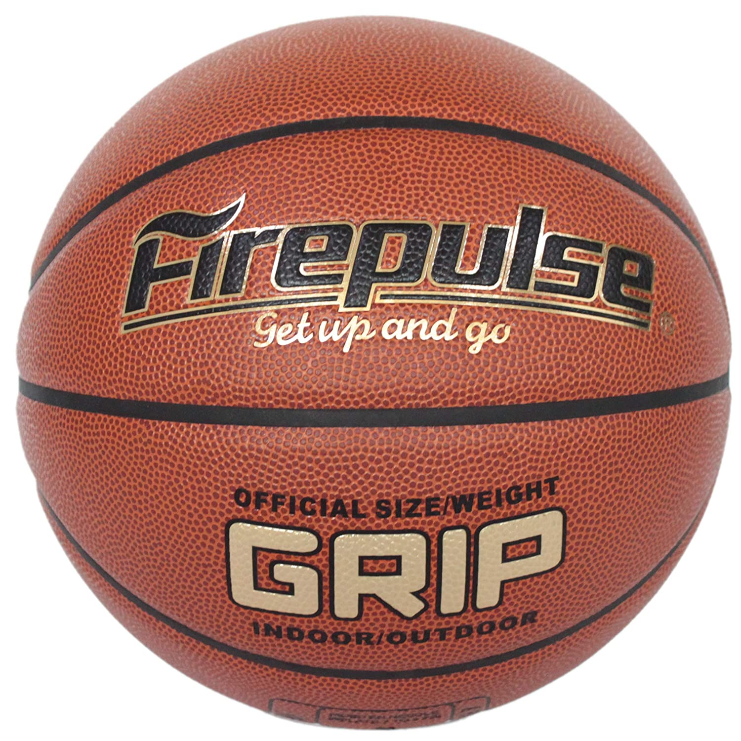 FIREPULSE Grip Basketball Official Size 7 29.5 Indoor Outdoor Composite Leather Game Basketballs with Free Air Pump,Needles,Basketball Carry Bag