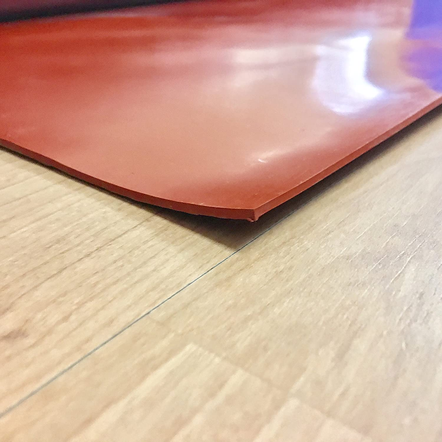 Rubber Sheets /& Rubber Rolls Commercial Grade Red//Orange Silicone 55A 1//8 Thick x 12 Width x 36 Length