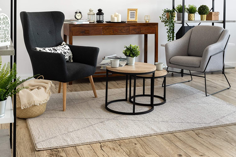 Rugsx Carpet Soft Ethno Diamonds Room Living Room Bedroom Cream Light Brown 200x290 Cm Amazon Co Uk Kitchen Home